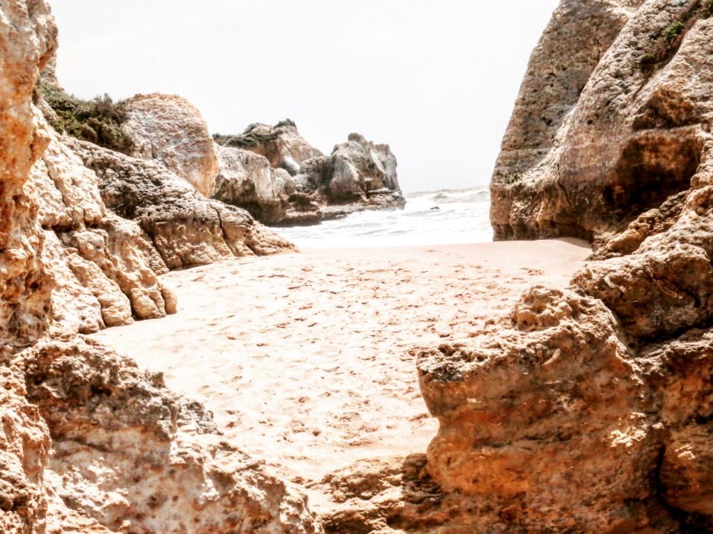 Algarve Reisen kleine Buchten Strand Traumhaft privater Strand