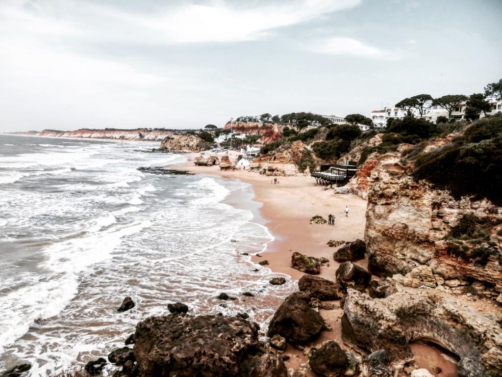 Strand Algarve Meer Beach Aussicht Landschaft