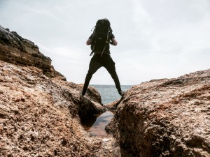 Wandern Algarve Rucksack packen